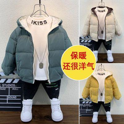 男童棉服宝宝冬装2019儿童羽绒棉衣短款男孩加厚棉袄外套一件过冬