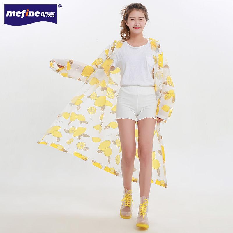 透明雨衣成人徒步女户外时尚情侣加厚防水男韩国潮流可爱学生雨披