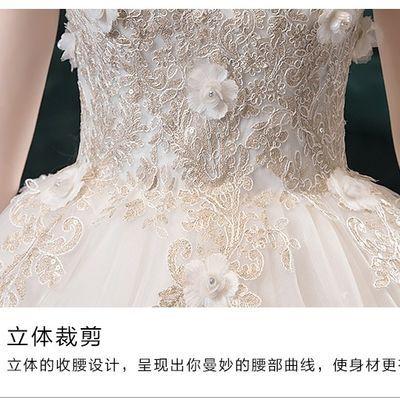 爱然鹏一字肩婚纱礼服2020新款韩式新娘结婚显瘦齐地婚纱公主女
