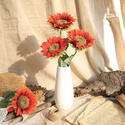 【今日特价3枝11.8】向日葵仿真花饰品束客厅摆件插干花装饰品