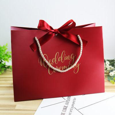。10个结婚礼用品喜糖袋子伴手礼喜糖盒礼盒满月回礼袋生日手提袋