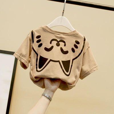 童装男童t恤夏季短袖洋气宝宝2020新款韩版小童潮儿童上衣体恤