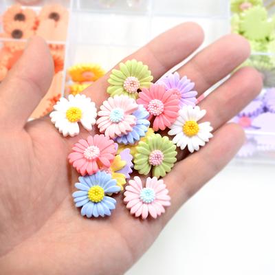 10个价权志龙同款小雏菊树脂饰品配件手机壳DIY手工皮筋头饰材料