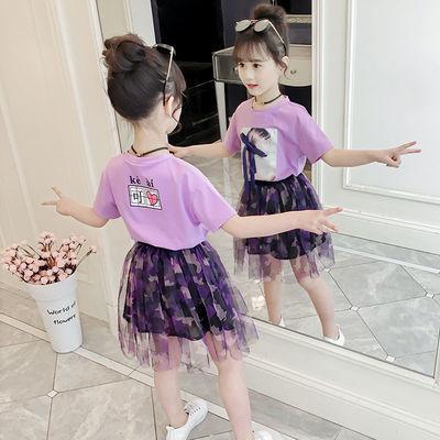 女童夏装套装2020新款儿童装洋气女孩裙子夏季中大童时髦两件套潮
