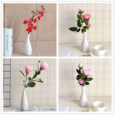 仿真梅花玉兰花套装新中式花艺居家客厅书房桌面摆件婚庆装饰假花
