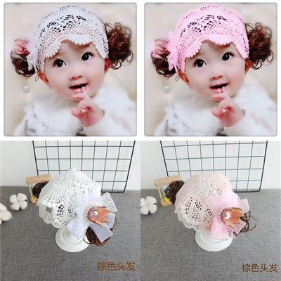 小果宝同款韩版婴儿童假发发带头饰女宝宝公主发饰生日皇冠1-3岁