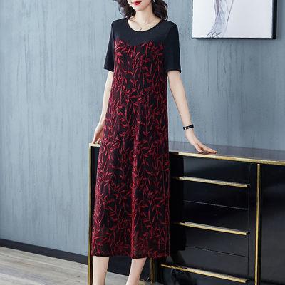 贵夫人连衣裙女夏2020新款高端气质遮肚显瘦减龄典雅名媛春秋长裙