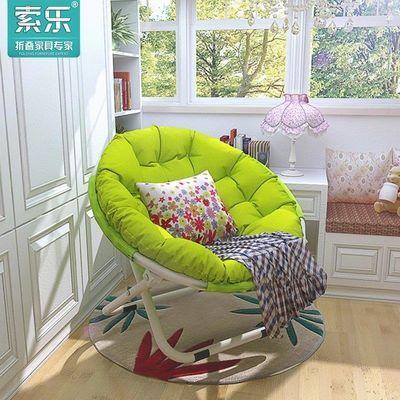 索乐躺椅折叠椅子家用懒人沙发成人单人凳子靠背阳台电脑椅折叠床