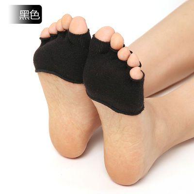 半掌袜浅口袜防滑短袜全趾袜子女士浅口五指袜脚垫鱼嘴隐形袜夏