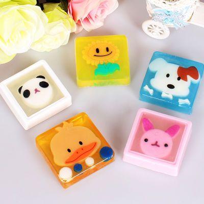 手工皂儿童卡通水果清香宝宝洗手脸头可爱学生香皂婴儿温和无刺激