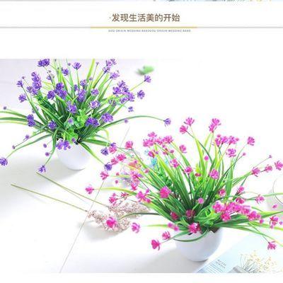 满天星高仿真花套装茶几摆设花艺假花绢花室内装饰客厅插花瓶包邮