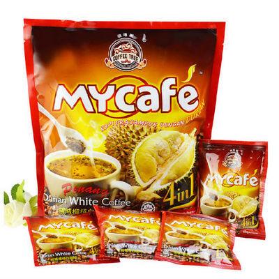 马来西亚槟城 榴莲白咖啡600g金装榴莲咖啡四合一白速溶咖啡320g