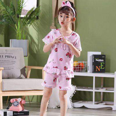 女童睡衣夏季薄款短袖公主小女孩中大童儿童家居服春夏天宝宝套装