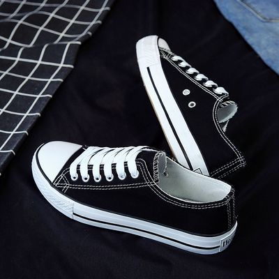 加大码女鞋41-43平底单鞋34码布鞋40初中学生帆布鞋42女孩子板鞋