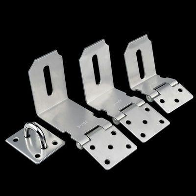 90度不锈钢插销门扣门栓门锁推拉门谷仓门移门搭扣对开直角锁门栓