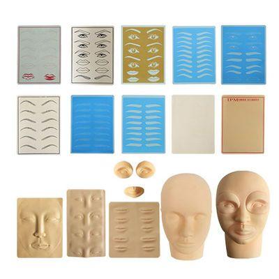 【5个装】纹绣练习皮纹身纹眉眼线漂唇仿皮橡胶皮空白硅胶立体皮