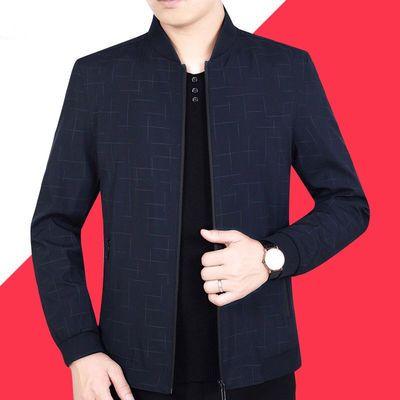 中老年男装外套春夏薄款2020休闲爸爸春装中年男士立领夹克衫夏季