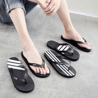 防臭人字拖鞋夏季新款学生潮拖防滑夹脚沙滩鞋男时尚橡胶凉拖