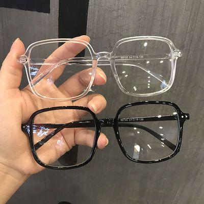 大框防辐射防蓝光护眼近视眼镜女韩版潮网红款眼镜框平光镜韩版潮