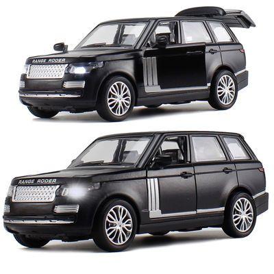 合金车模汽车模型玩具车路虎声光回力模型仿真小汽车儿童玩具男孩