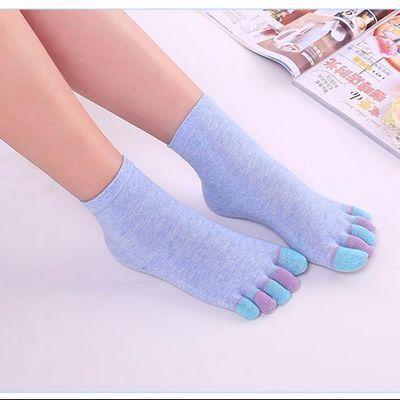 五指袜女士棉秋冬款中筒棉可爱分趾袜分指袜透气防臭脚气吸汗