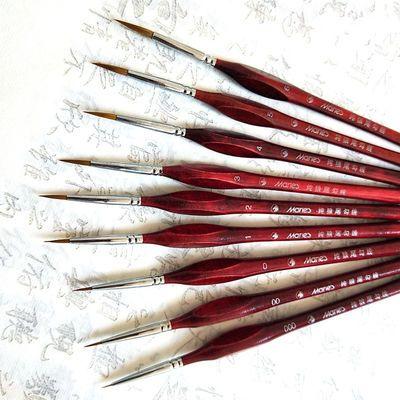 狼毫勾线笔手绘描边钩边笔水粉笔水彩笔工笔画绘画笔