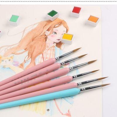 1支包邮 勾线笔狼毫水彩水粉油画画笔10种型号描线描边套装