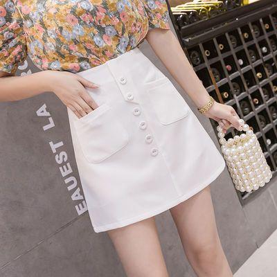 小香风新款春夏百搭a字裙短裙工装裙韩版百褶裙包臀裙半身短裙子