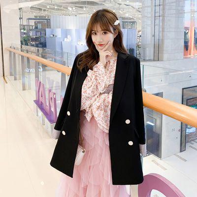 韩版学院风小西装外套女春秋宽松英伦风复古港风百搭西服外套女