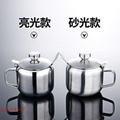 304加辣椒调味罐 厚不锈钢油罐带手柄厚不锈钢盒调料罐盐罐带盖包