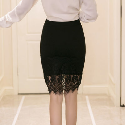 2020春夏包裙蕾丝裙子高腰显瘦短裙包臀裙a字中长一步裙半身裙女