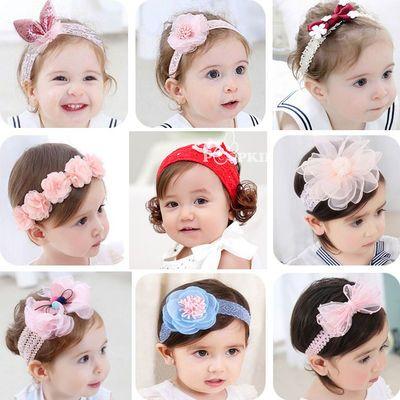 。婴儿发带韩国可爱公主头饰1-2岁新生儿0-12个月6女孩宝宝发饰头