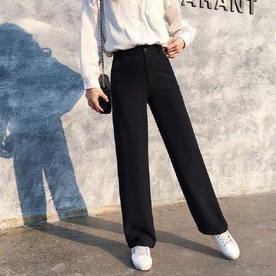 工作黑色九分裤女士西裤ol职业西装长裤裤女黑色服务员上班宽松
