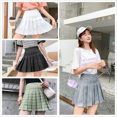 新款韩版日系百褶裙短裙百搭高腰显瘦半身裙ins学院风超短裙子
