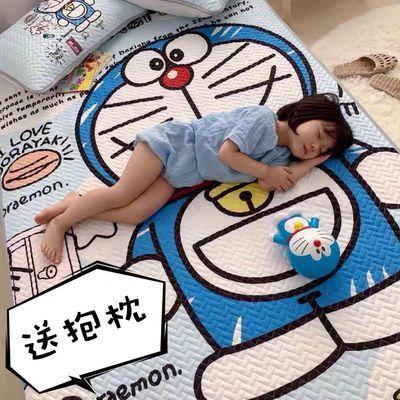 卡通哆啦a梦天丝空调软席冰丝凉席2三件套夏季可水洗折叠单双人床
