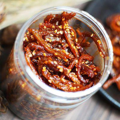 芝麻香辣鳗鱼条200g包邮小吃代发海鲜干货鳗鱼丝食品休闲零食