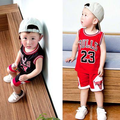 男童篮球服夏季幼儿园表演比赛女童背心套装宝宝篮球衣服运动速干