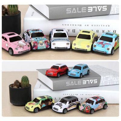 儿童合金小汽车仿真回力滑行赛车合金玩具车模型跑车迷你汽车玩具