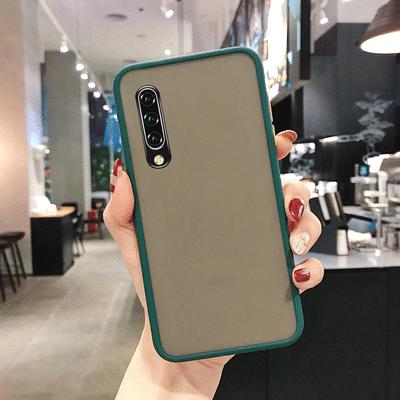 小米cc9手机壳男女硅胶透明防摔可爱新款磨砂撞色网红全包可爱潮