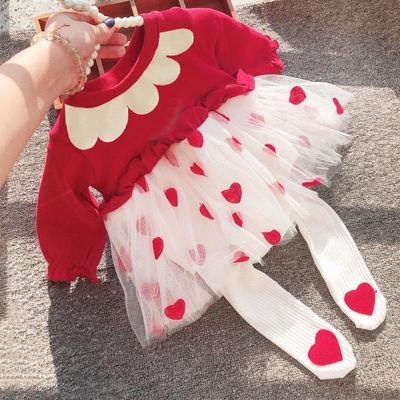 2020婴儿衣服春装新生儿女宝宝连体衣纯棉连衣裙0--4公主纱裙套装