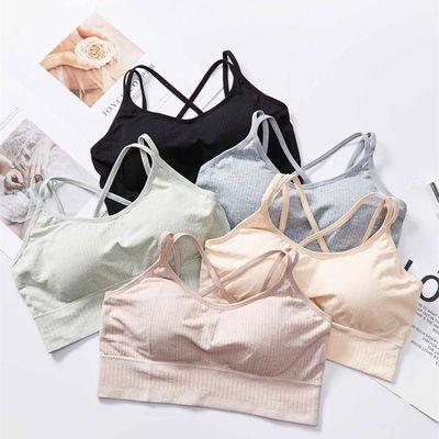 韩版新款少女性感内衣文胸无钢圈百搭运动睡眠舒适透气美背裹抹胸
