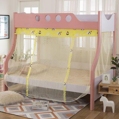 子母床蚊帐上下铺蚊帐高低床铁架床双层床蚊帐系绳子加密帐纱