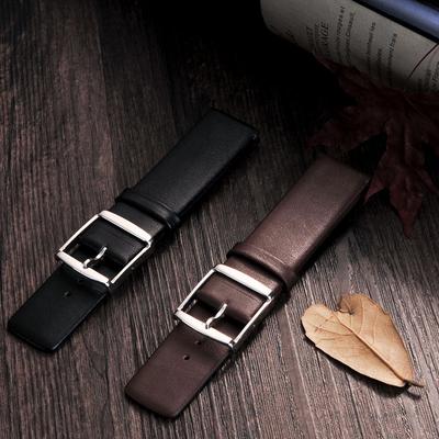美康汇 超薄ck真皮小牛皮表带男女通用表链平纹手表带配件代用dw