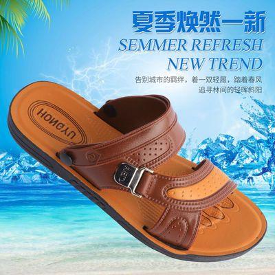 凉鞋男2020夏季新款露趾青年沙滩鞋两用中年凉拖鞋舒适男士凉鞋