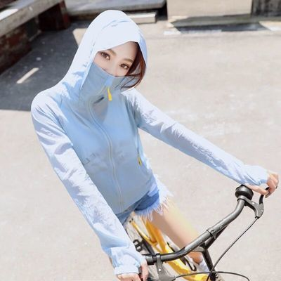 爆款防晒衣女2020夏季新款短款薄外套潮骑车长袖防晒服大码空调防