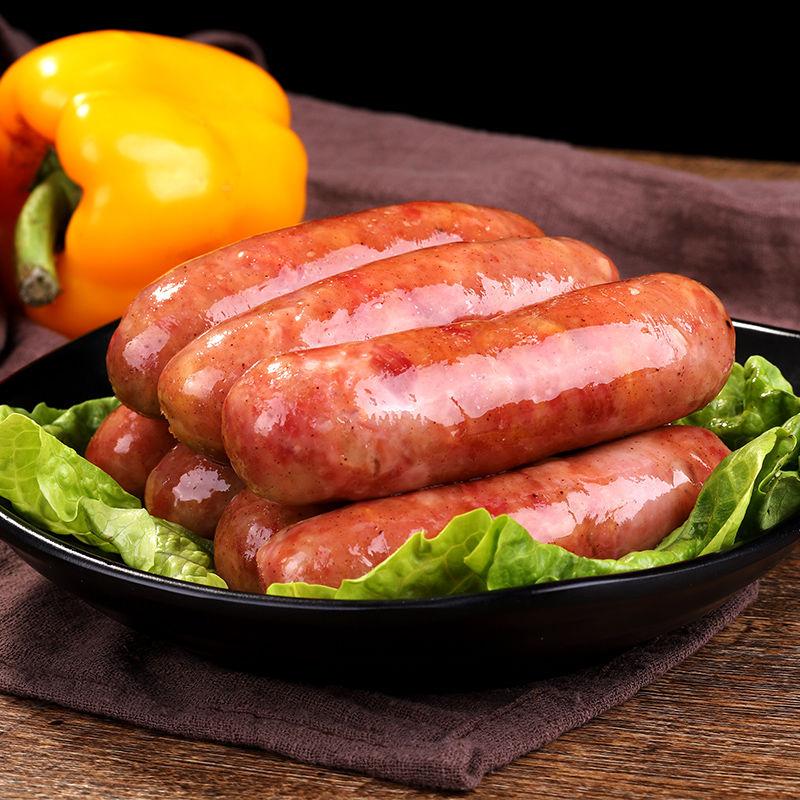 台湾风味纯肉肠火山石烤肠纯肉香肠黑椒地道肠热狗肠手工烤肠批发