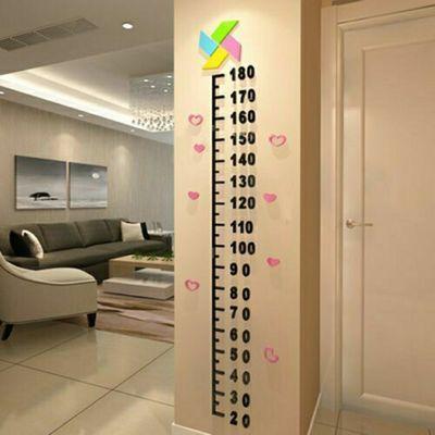 儿童房身高墙贴量高尺3d立体宝宝测身高卡通卧室亚克力装饰可移除