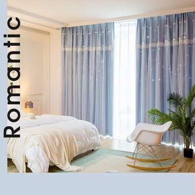 【心帘品家纺】欧式新款田园风格小天鹅遮光窗帘客厅卧室成品窗帘