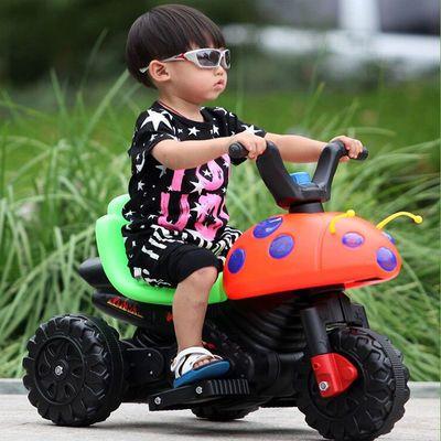 多功能带早教儿童电动摩托车三轮车电动车小孩汽车宝宝电瓶车充电