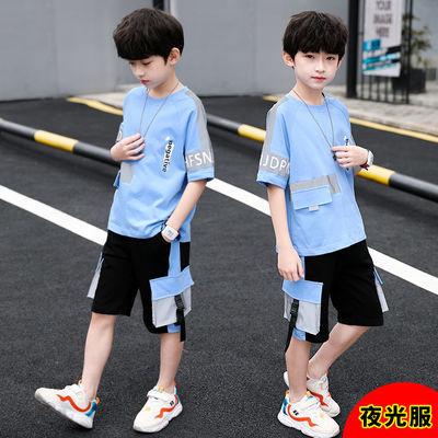 儿童装男童夏装套装2020新款中大童男孩夏季洋气t恤短袖韩版帅气